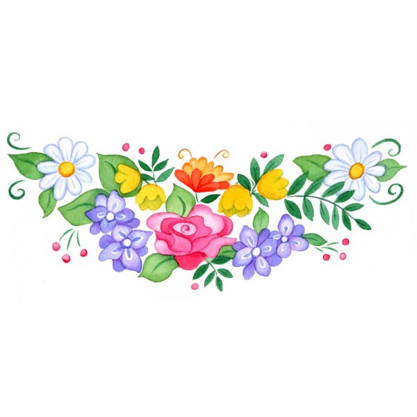 Floral swag for cookies gift box